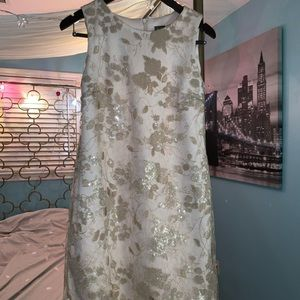 Taylor Cream Floral Sequined Dress